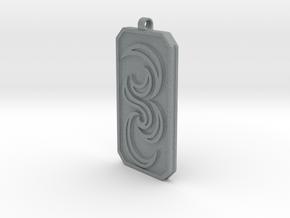 Keychain Dogtag3 in Polished Metallic Plastic