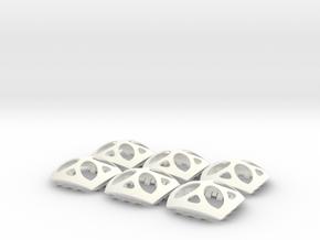 OrBLock - Interlocking Sphere Segments in White Processed Versatile Plastic