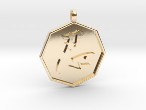 Shinobi pendant in 14k Gold Plated