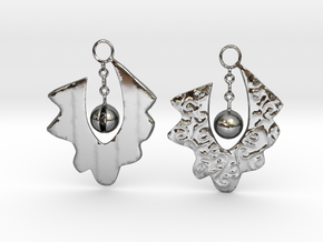 Lace Earrings By Inna in Fine Detail Polished Silver