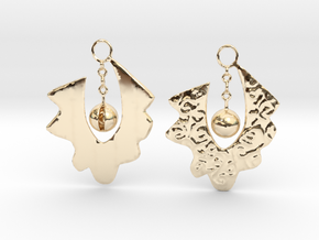 Lace Earrings By Inna in 14k Gold Plated Brass