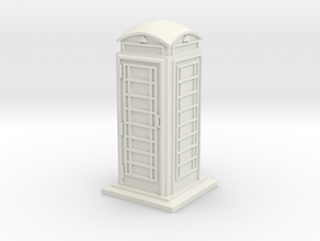 TT Gauge Phone Box in White Natural Versatile Plastic
