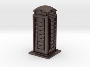 HO/OO Gauge Phone Box in Polished Bronzed Silver Steel