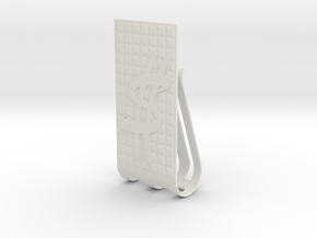 Dollar Sign Money clip in White Natural Versatile Plastic