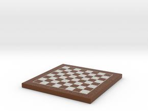 Chess Board 1/12 Scale In Frame in Full Color Sandstone