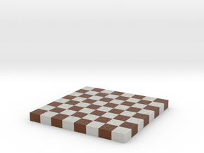 Chess Board 1/12 Scale No Frame in Full Color Sandstone
