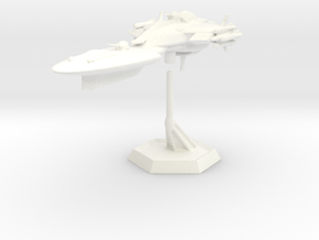Star Sailers - ChiimuSiilcor - Patrol Cruiser 002  in White Strong & Flexible Polished