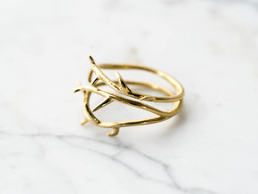 Thorn Ring No. 2 in Polished Brass: 7 / 54