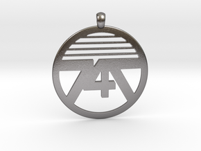 747 Necklace in Polished Nickel Steel