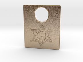 Pinball Plunger Plate - Cactus Canyon v1 in Polished Gold Steel
