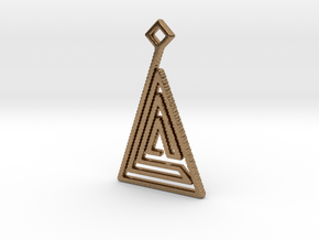 Triangle Pendant in Natural Brass