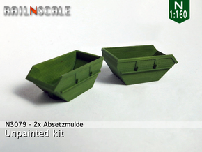 2x Absetzmulde (N 1:160) in Smooth Fine Detail Plastic