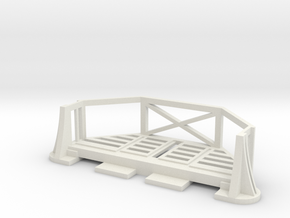 Basic Bulkhead Balcony V1  in White Natural Versatile Plastic