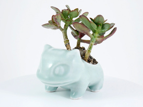 Ceramic Bulbasaur in Gloss Oribe Green Porcelain