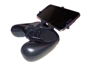 Steam controller & Samsung Galaxy S7 edge - Front  in Black Natural Versatile Plastic