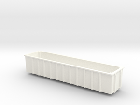 N Gauge JUA 100 Tonne Tippler Wagon (INNER) in White Processed Versatile Plastic