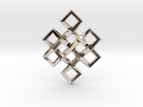 Endless Knot in Rhodium Plated Brass