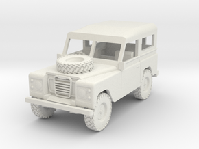 1/72 1:72 Scale Land Rover Hard Top Bonnet Wheel in White Strong & Flexible