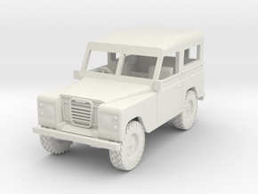 1/72 1:72 Scale Land Rover Hard Top in White Natural Versatile Plastic