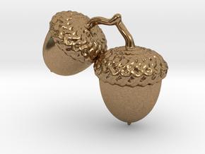 Acorns in Natural Brass