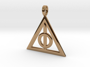 Harry Potter Deathly Hallows Pendant in Polished Brass