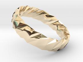 Twistium - Bracelet P=160mm h15 Alpha in 14K Yellow Gold