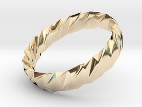 Twistium - Bracelet P=170mm h15 Alpha in 14k Gold Plated Brass