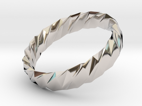 Twistium - Bracelet P=170mm h15 Alpha in Rhodium Plated Brass