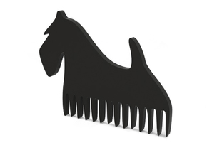 "Comb ""Terier"" in Black Natural Versatile Plastic"