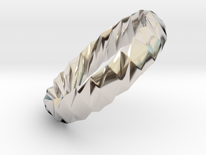 Twistium - Bracelet P=180mm h15 Alpha in Rhodium Plated Brass