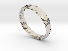 Twistium - Bracelet P=190mm h15 Alpha in Rhodium Plated Brass