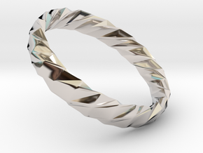 Twistium - Bracelet P=210mm h15 Alpha in Rhodium Plated Brass