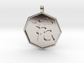 Hana(flower) pendant in Platinum