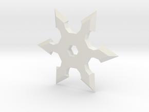 Shuriken Star 5cm in White Natural Versatile Plastic