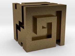Nuva Cube in Natural Bronze