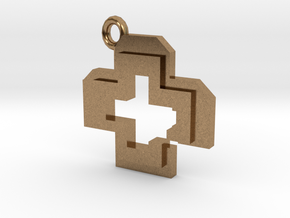 Health Pendant in Natural Brass