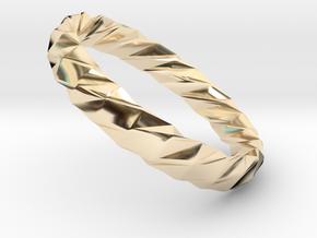 Twistium - Bracelet P=220mm h15 Alpha in 14K Yellow Gold