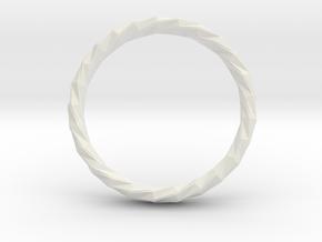 Twistium - Bracelet P=230mm h15 Alpha in White Natural Versatile Plastic