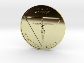 Lucy Coin in 18k Gold Plated Brass