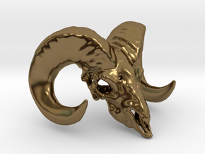 11:11 - The Ram Head Amulet in Polished Bronze