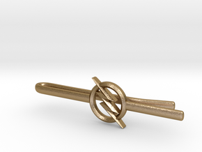 FLASH tie clip in Polished Gold Steel