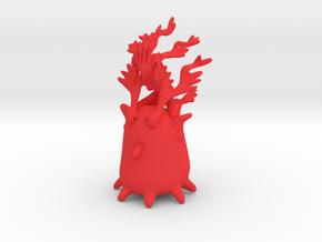 Ermaid riding Grimpoteuthis in Red Processed Versatile Plastic