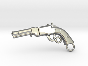 Volcanic Gun in Fine Detail Polished Silver