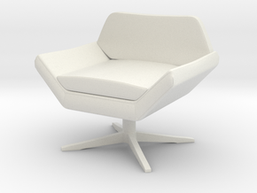 1:24 Sly Lounge Chair in White Natural Versatile Plastic