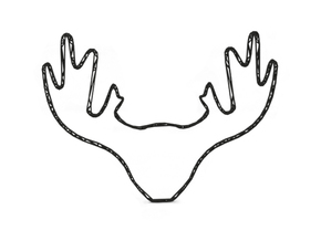 Deer in Black Natural Versatile Plastic