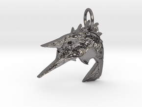 Whale in Polished Nickel Steel