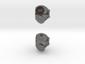 Bobomb Stud Earrings in Polished Nickel Steel
