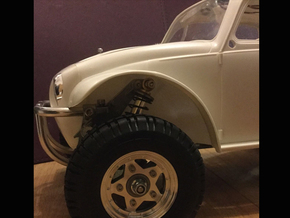 Sand Scorcher Wheel Arches / Inner Fenders set in White Strong & Flexible Polished