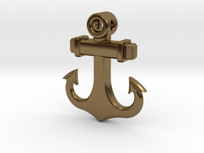 Anchor Pendant (CustomMaker) in Polished Bronze