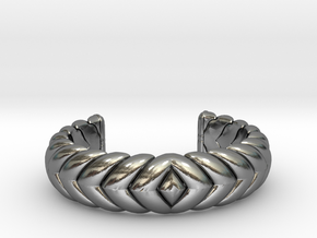 V CUFF 2016 EXTRA EXTRA SMALL in Polished Silver